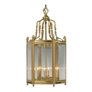 Antique Brass Chandelier Lantern