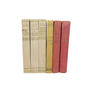 French Art Deco Cloth-Bound Books - Set of 6