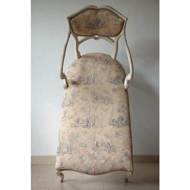 Antique louis xvi style chaise chairish for Chaise style louis xvi occasion