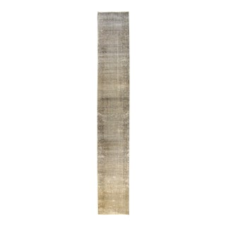 "Apadana - Vintage Overdyed Rug, 2'7"" x 17'6"""