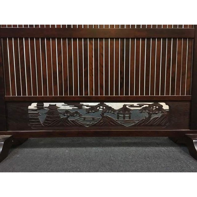 Decorative Carved Wooden Screen - Image 5 of 6