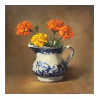 Flowers in the Vase Small Oil Painting