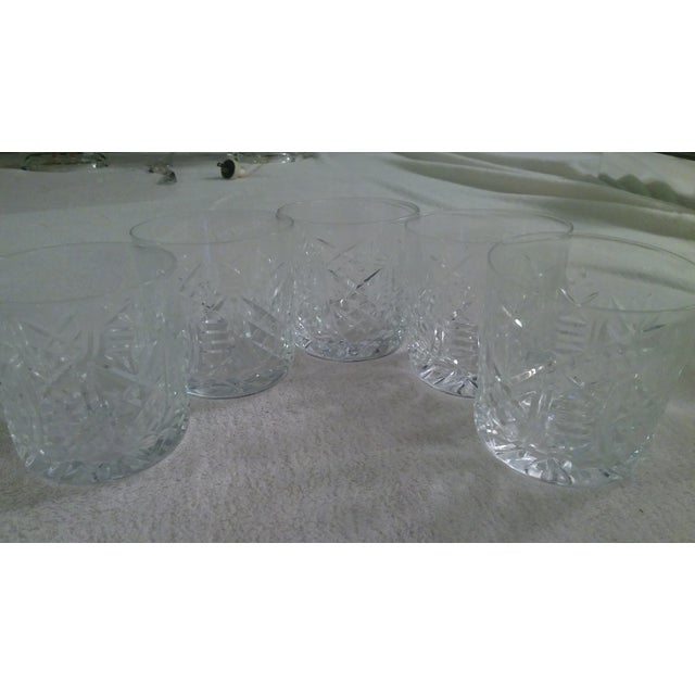 Vintage Etched Rocks Glasses - Set of 4 - Image 4 of 11