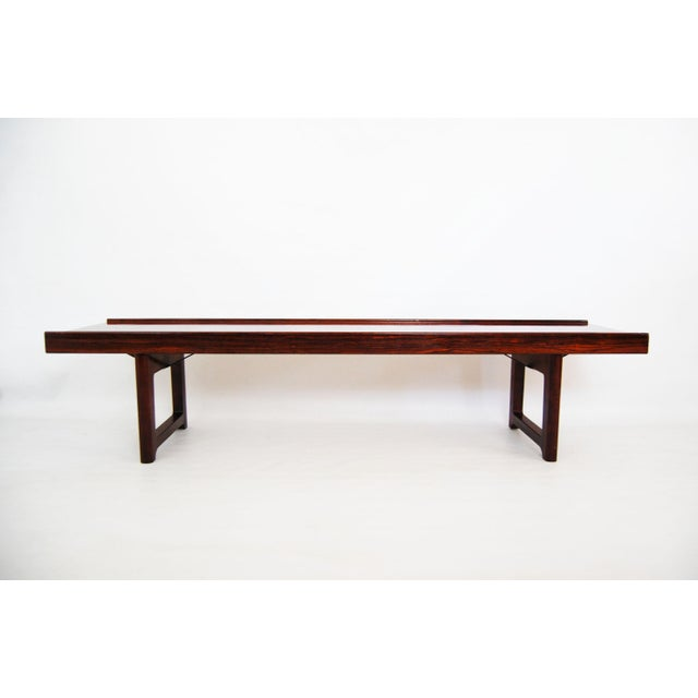 Torbjorn Afdal for Bruksbo Norwegian Krobo Rosewood Coffee Table or Bench - Image 7 of 7