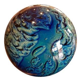 Josh Simpson Glass Planet Paperweight