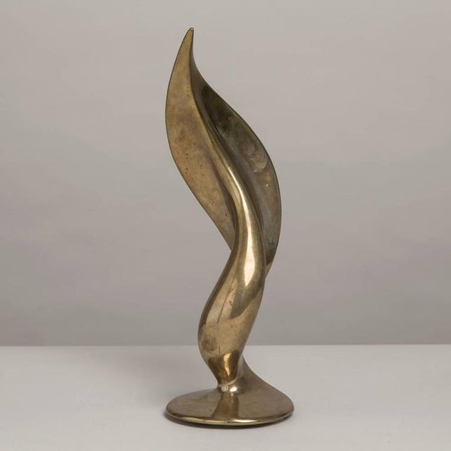 Image of Superb Cast Bronze Abstract Table Sculpture, 1970s