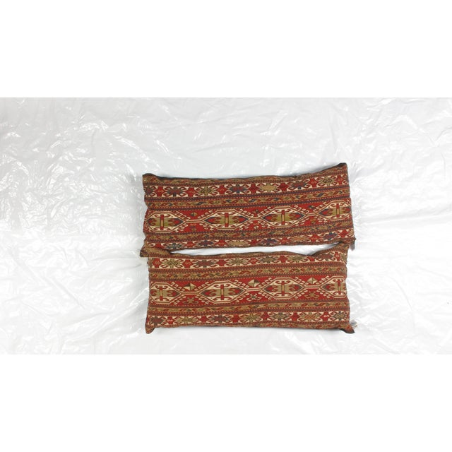 Image of Pillows with Antique Soumak Rug Fragment