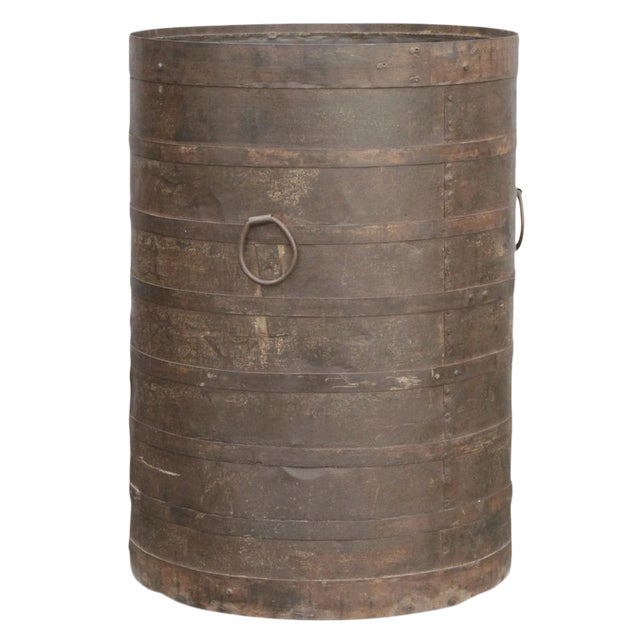 Handcrafted Iron Barrel - Image 1 of 4