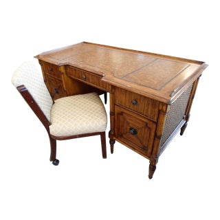 Tommy Bahama Lexington Desk & Rolling Chair - A Pair