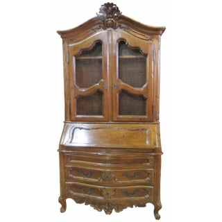 Louis XV Style Carved Fruitwood Secretary Desk