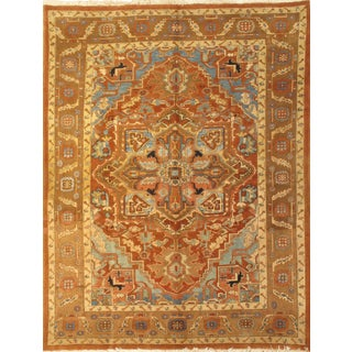"""Persian Heriz Hand-Knotted Rug-8'3""""x10'9"""""""