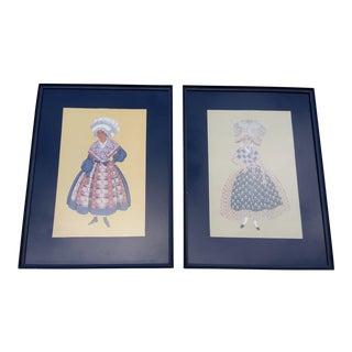 Antique 'Femmes De Marennes' French Prints