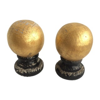 Wooden Guided Finials - A Pair