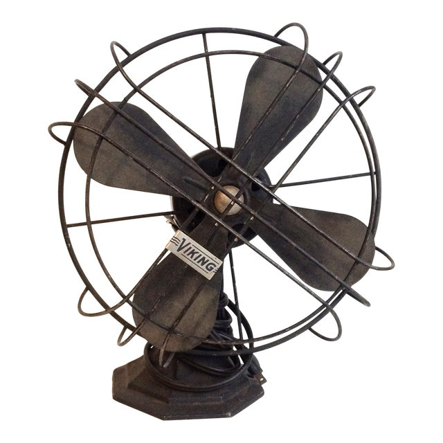 Vintage Industrial Viking Fan - Image 1 of 4
