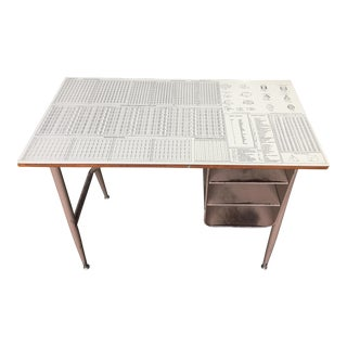 Mid Century Math Master Student Desk With Great Graphics #1