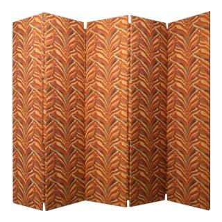 Custom 5 Panel Upholstered Floor Screen/Room Divider