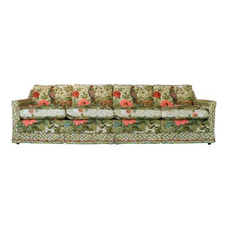 Pheasant Motif Feather Down Sofa