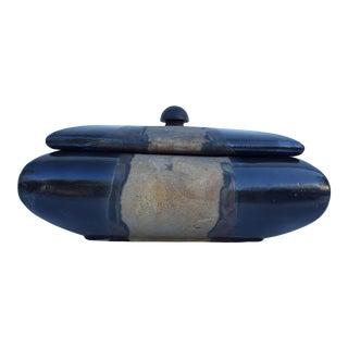Tony Evans Decorative Raku Ceramic Box Vase