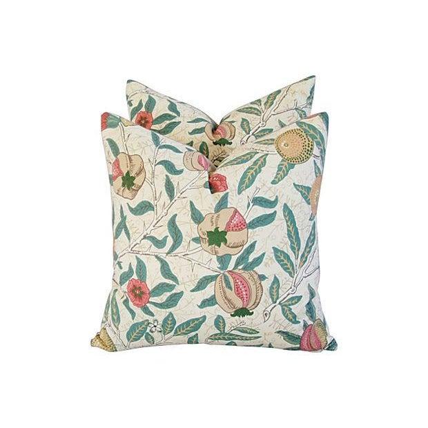 William Morris & Co Fruit Pillows - Pair - Image 7 of 7