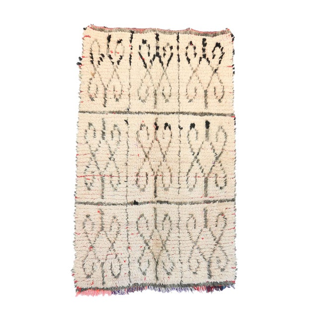 "Azilal Vintage Moroccan Rug - 3'3"" x 4'11"" - Image 1 of 2"