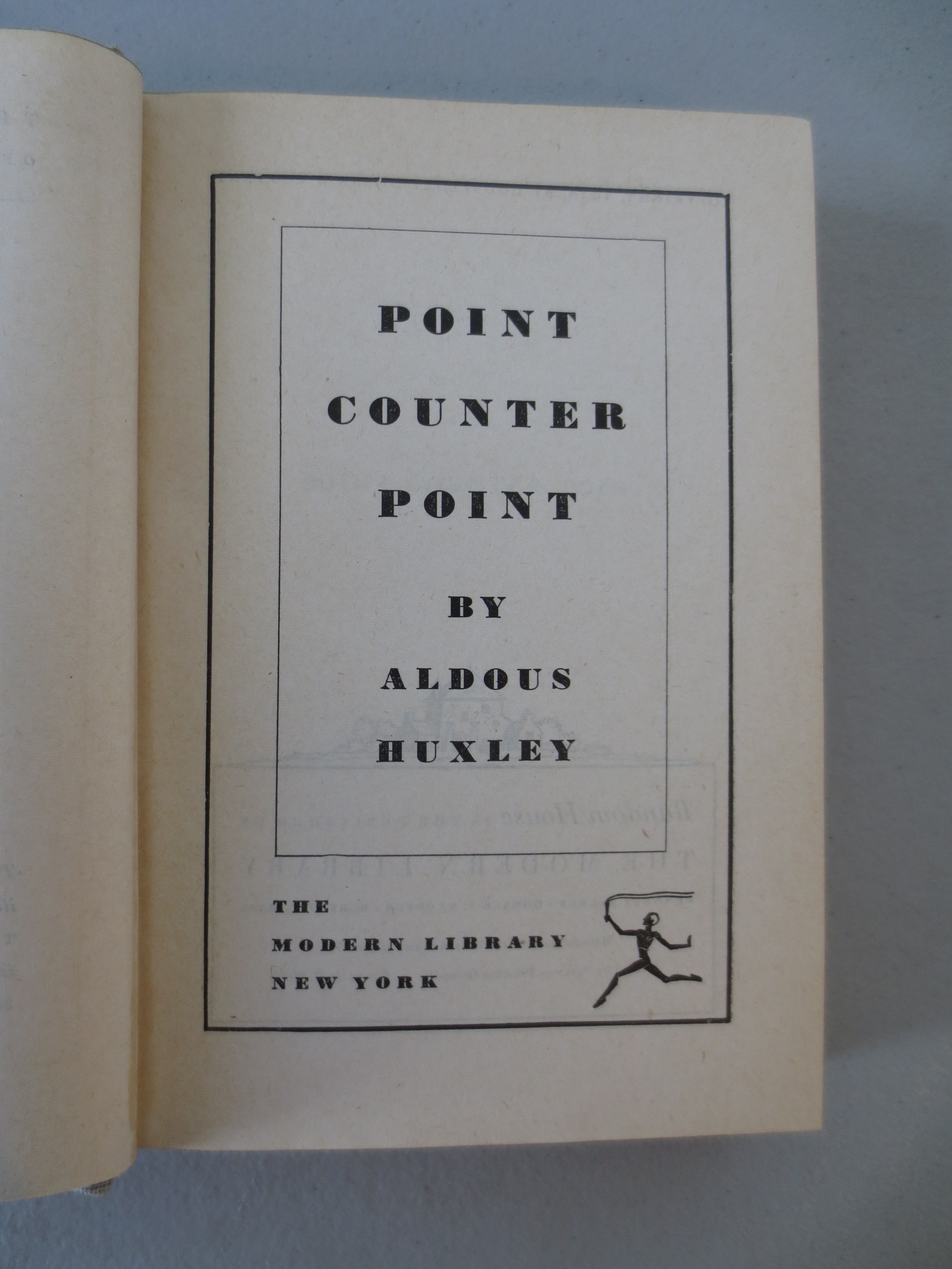a description of the point counter point written by aldous huxley But huxley's emphasis on ideas and his skin as an essayist cannot hide one important fact: the books he wrote that are most read and best remembered today are all novels--crome yellow, antic hay, and point counter point from the 1920s, brave new world and after many a summer dies the swan from the 1930s in 1959 the american academy of arts and.