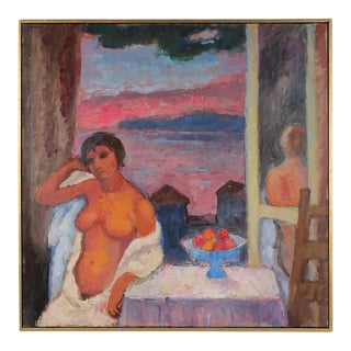 "Gerald Wasserman ""Cannery Row Nude"" Sunset Landscape"