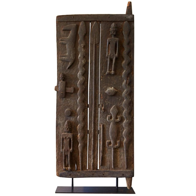 Monumental Hardwood African Granary Door - Image 1 of 9