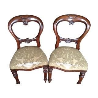 Mahogany Balloon Back Dining Chairs - Set of 6