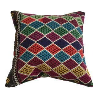 "Embroidered Anatolian Pillow - 16"" x 16"""