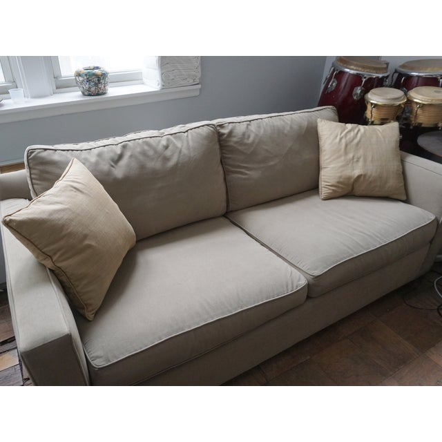 Crate and barrel troy sofa davis 2 piece sectional sofa for Sofa bed 8101
