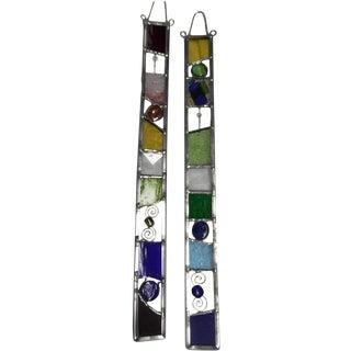 Vintage Handmade Glass Hangers - A Pair