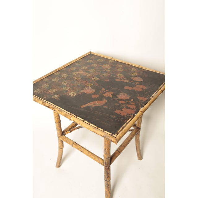 Victorian Bamboo Side Table - Image 4 of 4