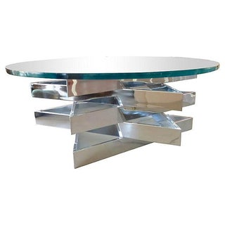 Three Level Chrome Star Coffee Table