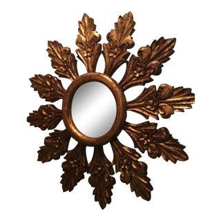 Hand Carved Sunburst Mirror