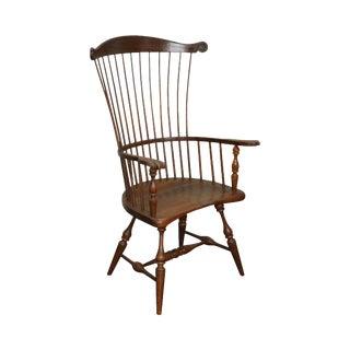 Frederick Duckloe Vintage Windsor Style High Back Arm Chair