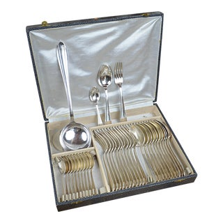 Antique French Silver-Plated Boxed Flatware - Service for 12