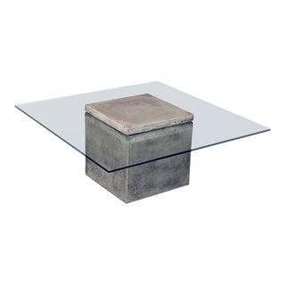 Concrete & Glass Coffee Table