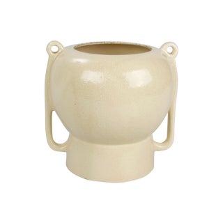 Ceramic Glazed & Mottled Vase With Handles
