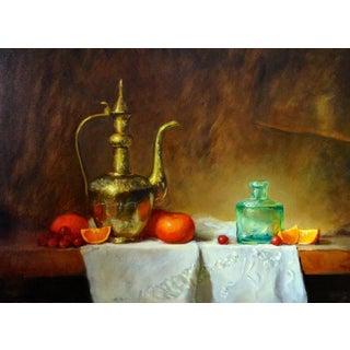 Pitcher & Tangerines Originl Still Life Oil Painting