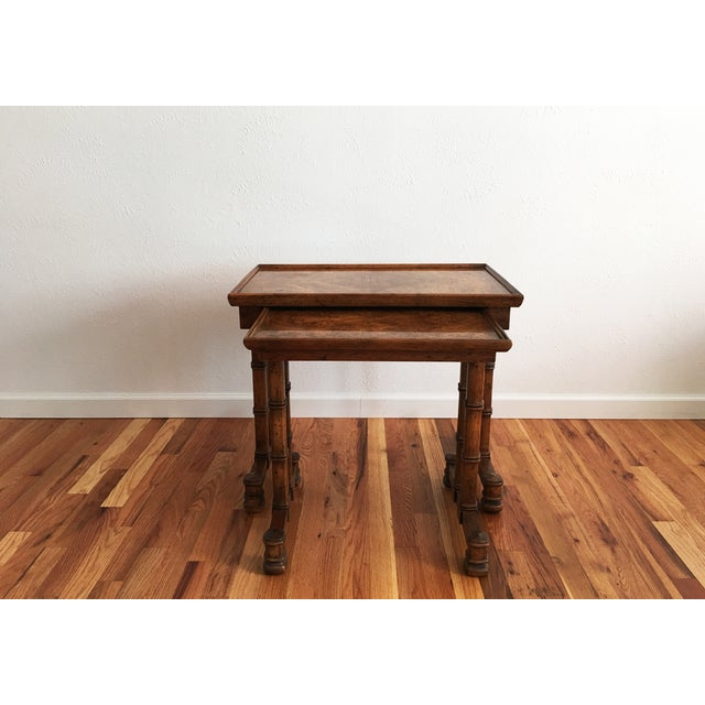 Vintage Drexel Heritage Nesting Tables - A Pair - Image 4 of 9