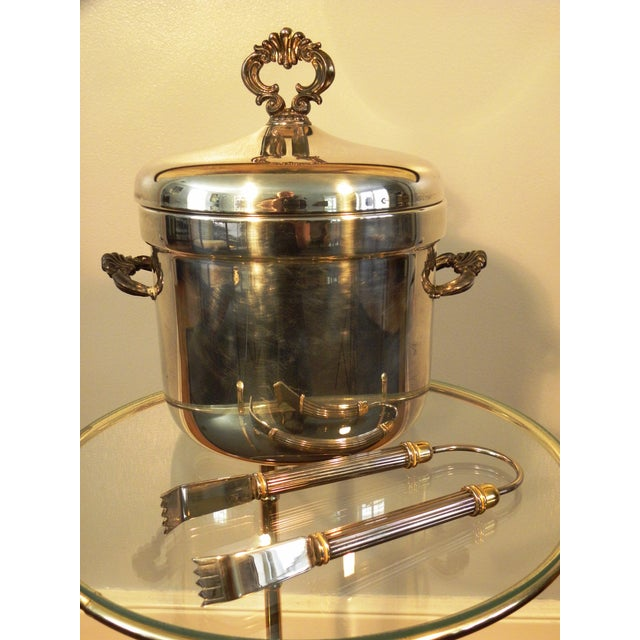 Vintage FB Rogers Silver Co. Ice Bucket W/ Tongs - Image 2 of 6