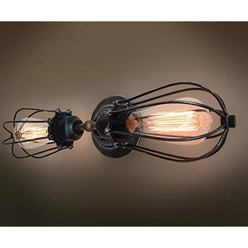 Image of Industrial Style Double Head Wall Sconce