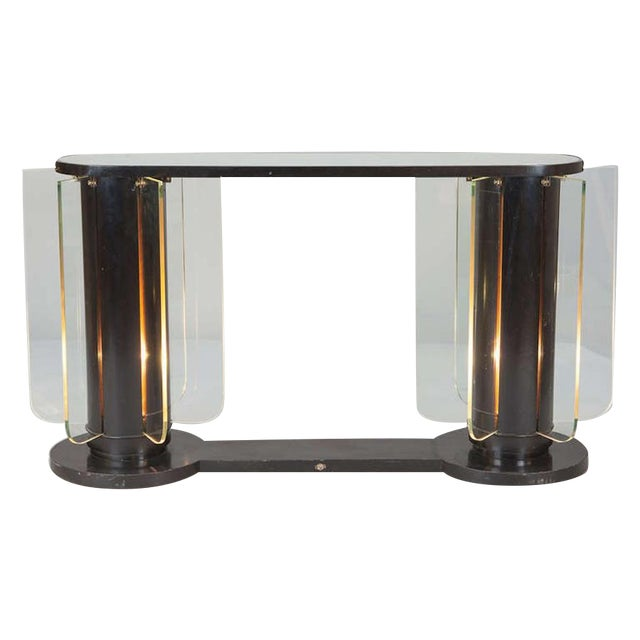 French Art Deco Light-Up Console - Image 1 of 5