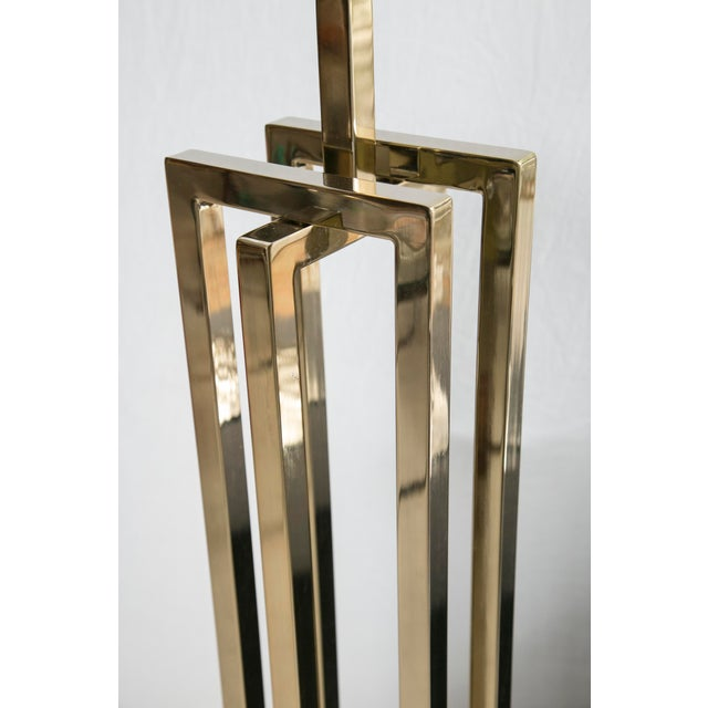 Milo Baughman Brass Deco Floor Lamp - Image 7 of 10