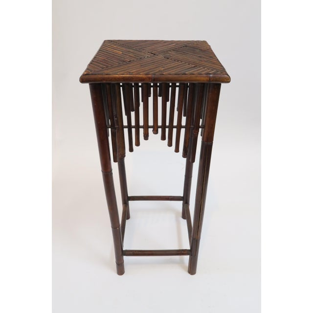 Image of Dark Brown Bamboo Pedestal