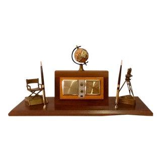 Mid-Century Universal Studios Clock Radio Desk Set