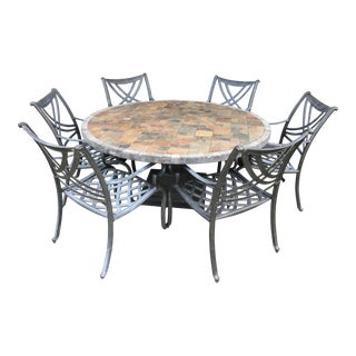Outdoor Slate Tile Dining Set