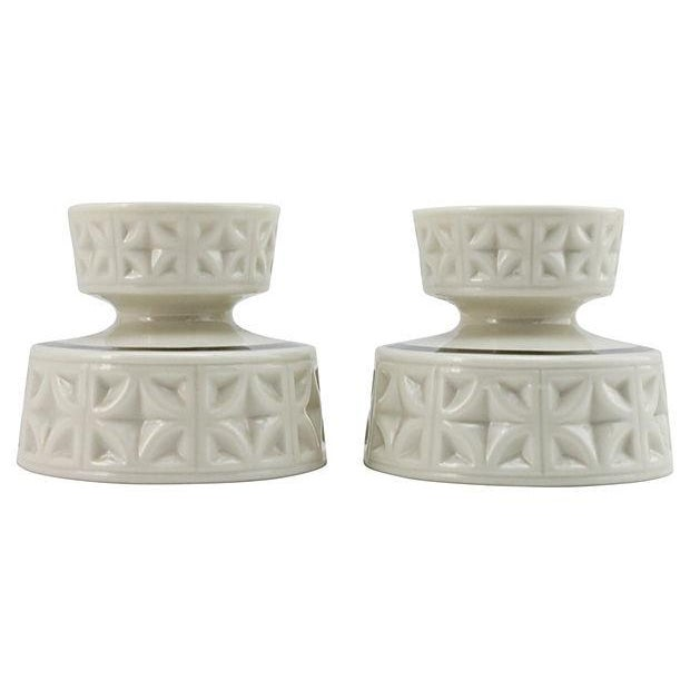 Image of Lenox Silver Anniversary Candleholders - A Pair
