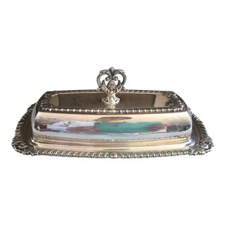 Vintage Silverplate Covered Butter Dish