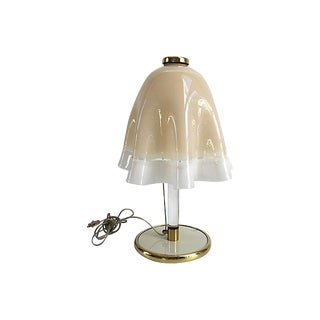 Mid-Century Murano Venini Handblown Handkerchief Table Lamp